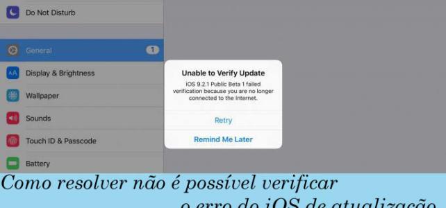Topo 7 truques para corrigir não é possível verificar o erro no iOS 10 e 10.1