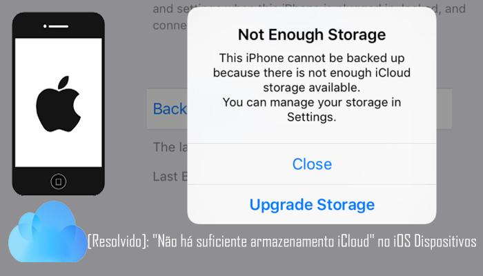 Como corrigir não bastante iCloud Armazenamento Erro