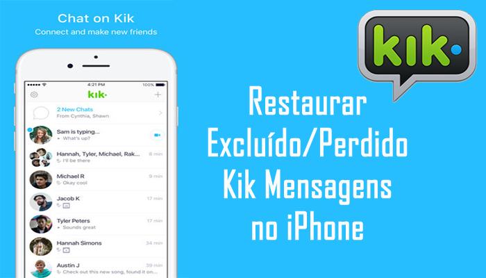 iPhone Kik Mensagens Recuperação