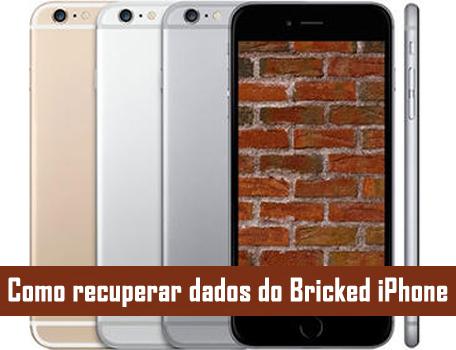 Como recuperar dados do Bricked iPhone