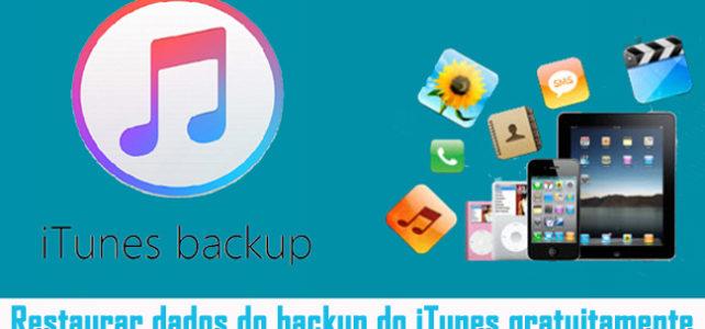 Recuperação de dados do iTunes: Restaurar dados do backup do iTunes gratuitamente