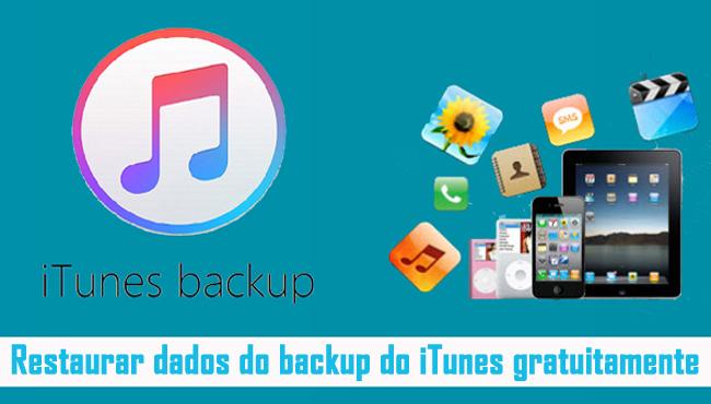 Extrair dados do backup do iTunes gratuitamente