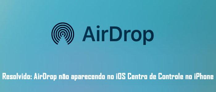 """Aprenda as correções mais fáceis para resolver AirDrop não aparecendo no iOS Controle Centralizar no iPhone/iPad/iPod Touch! Resumo: você já enfrentou o AirDrop não sendo exibido no Centro de controle do iOS? O AirDrop não aparece no iPhone X / 8/8 Plus / 7/7 Plus / 6/6 Plus / 6S / 6S Plus / SE / 5 / 5C? Você já tentou descobrir por que o problema do AirDrop não aparece no iOS Controle Centralizar e como consertá-lo? Se você chegou à mesma situação como outros usuários do iPhone da Apple, então este artigo irá ajudá-lo. Ele ajudará você a corrigir o AirDrop que não aparece no iOS Controle Centralizar no iPhone, iPad ou iPod Touch. O AirDrop é conhecido como um dos protocolos de compartilhamento úteis para usuários da Apple que transferem arquivos de maneira fácil e rápida entre iPhones, iPod touch, iPads e computadores Mac. O arquivo inclui fotos, contatos e documentos, além de outros tipos de arquivos entre dispositivos. Mas às vezes pode ser frustrante para vários usuários da Apple quando o AirDrop não aparece no iOS, ele se comporta de maneira um pouco diferente, o que evita o recurso de compartilhar os arquivos. AirDrop não está completamente quebrado, mas ainda não aparece e, portanto, os resultados serão quase os mesmos. Mas quando o AirDrop não está aparecendo no painel de controle, o problema pode ser muito alto no iOS, que deve ser corrigido instantaneamente. Basta dar uma olhada no cenário prático real do usuário mencionado abaixo! Cenário prático: um AirDrop de usuário não está aparecendo no centro de controle após a atualização do iOS 11 iOS 11.0.2 - AirDrop não aparecendo em Ao controle Centro, mesmo depois de muito tempo pressionando o """"Network Icon Group"""" no Centro de Controle Bom dia a todos, eu tenho essa unidade do iPhone que atualizamos para o iOS 11.0.2. Estávamos tentando fazer o download de arquivos do AirDrop, mas nos deparamos quando tentávamos ir para o controle do AirDrop através do Centro de Controle. Não estava aparecendo mesmo quando est"""